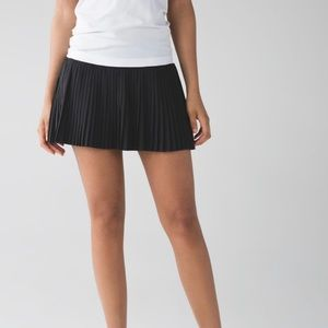 lululemon Pleat to Street Black Run Skirt
